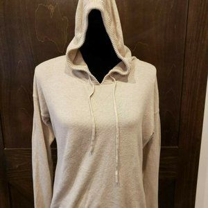 T/O Sweaters LARGE Hooded Cream Sweater